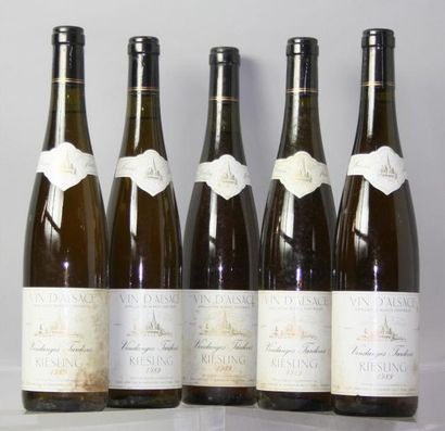 5 Bouteilles RIESLING VT Cave Vinicole Hunawihr...