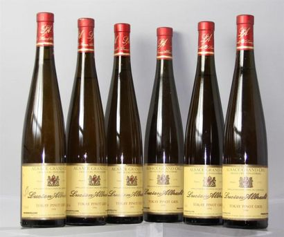 6 Bouteilles TOKAY GC Pfinstberg L. Albrecht...