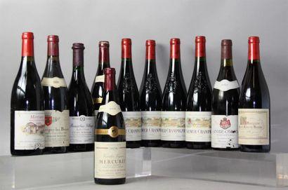 LOT de 12 Bouteilles Vins rouges de BOURGOGNE,...
