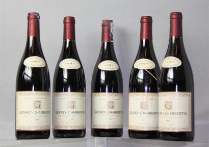 5 Bouteilles Gevrey Chambertin J.B. Bejot...