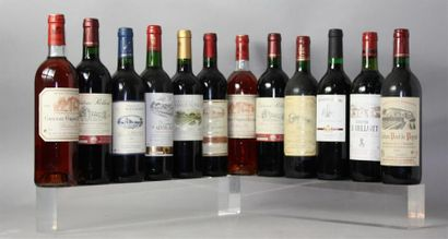 LOT de 12 Bouteilles de Vins rouges et rosés...