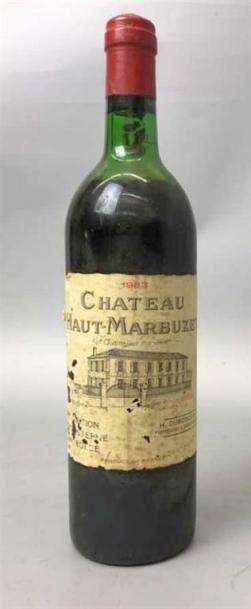 1 Bouteille CHÂTEAU HAUT MARBUZET 1983 -...