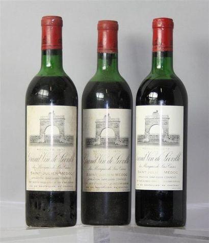 3 Bouteilles Château Leoville las Cases 2éme...