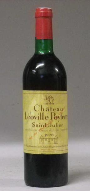 1 Bouteille CHÂTEAU LEOVILLE POYFERRE 1978...