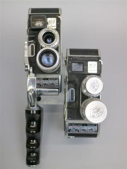 Lot de 2 caméras : Paillard Bolex B8, vendue...