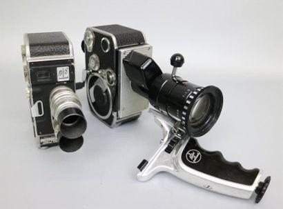 Lot de 2 caméras : Paillard Bolex Zoom Reflex...