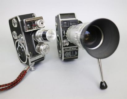 Lot de 2 caméras : Paillard-Bolex L8, objectif...