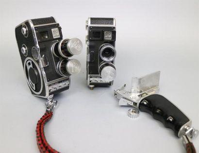 Lot de 2 caméras : Paillard-Bolex B8, 2 objectifs...