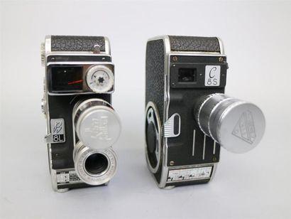 Lot de 2 caméras : Paillard-Bolex C8S, vendue...