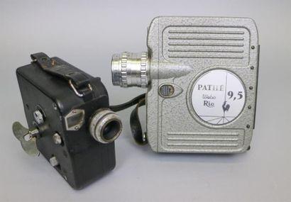 Lot de 2 caméras : Pathé 9,5 mm, objectif...