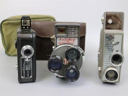 Lot de 3 caméras : Ciné-Kodak Eight Model...