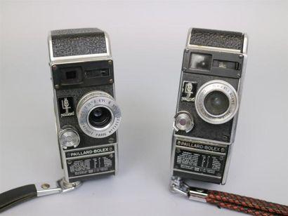 Lot de 2 caméras : Paillard Bolex L8, objectif...