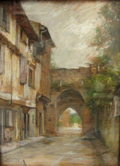 Luis Joseph Cazaban (1878-1920) Porte d'aval...