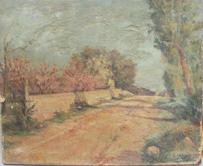 MELICOURT H. XIXe siècle Chemin ensoleillé...