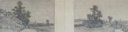 Ensemble de quatre gravures: Félicien Rops...