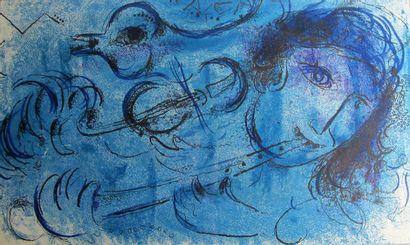 D'après Chagall, lithographie en couleur....