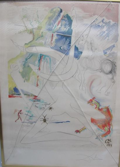 Salvador Dali. L'unicorne laser désintègre...