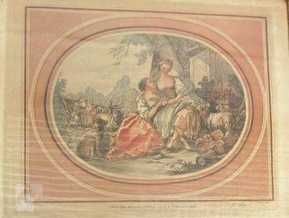 Gravure dans le goût du XVIII°siècle d'après...