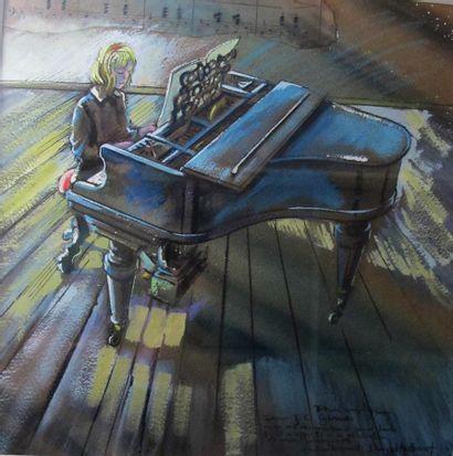 Daniel AUTHOUART(1943- ).Etude pour piano...