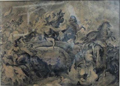 La bataille des amazones d'après Paul Rubens,...