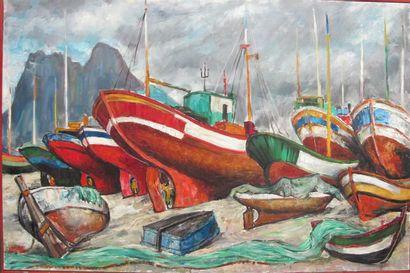 Louis Teicher (1916).Barques à Alicante....