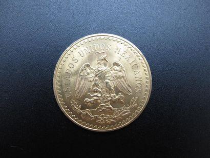 Une monnaie de 50 Pesos or, Mexique, année...