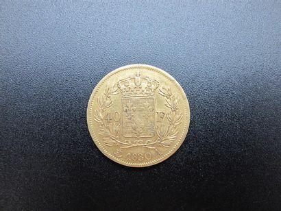 Une monnaie de 40 Francs or, Charles X, année...