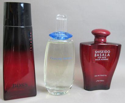 Divers parfumeurs ensemble de 3 flacons publicitaires...