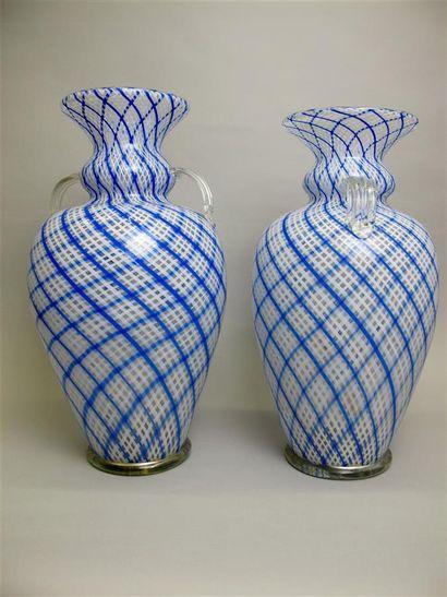 Linda PINTO MURANO. Deux vases balustres...