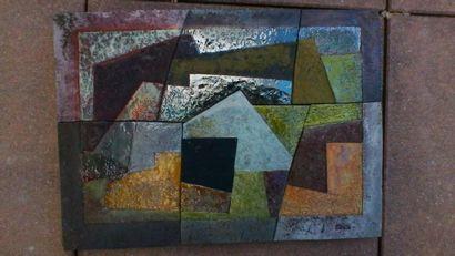 Jacotte CAPRON Panneau décoratif abstrait...