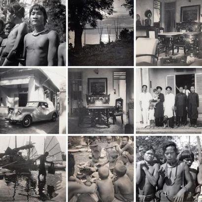 1937 Lot de trois albums photographiques...