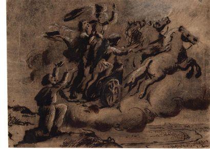 Ecole française du XVIIème siècle. Scène...