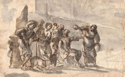 Ecole italienne du XVIIIème siècle. Scène...