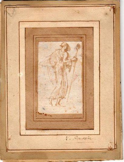 Nicolas POUSSIN (1594-1665). Bacchante marchant...
