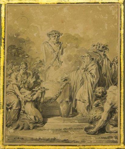 Ecole française du XVIIIème siècle, attribué...