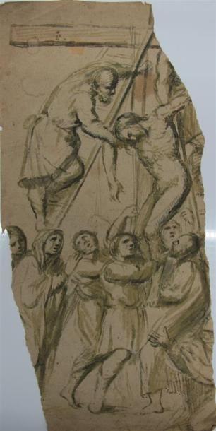 Ecole Italienne du XVIIème siècle. Fragment...