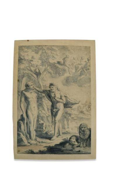 Ecole du Nord du XVIIème siècle. Scène mythologique....