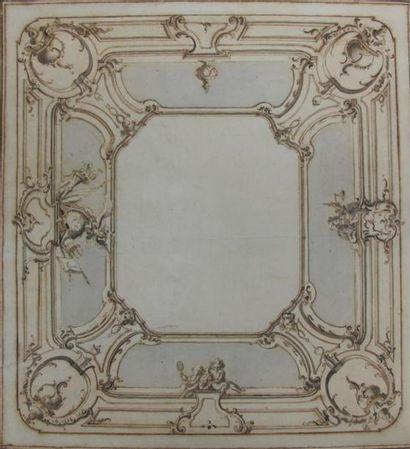 Ecole italienne du milieu du XVIIIème siècle....
