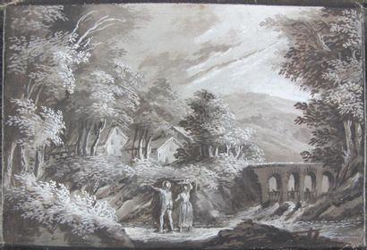 Ecole flamande du XVIIIème siècle. Entourage...