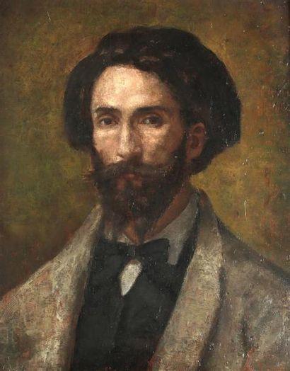 Ecole française vers 1870-1880 Portrait d'homme...