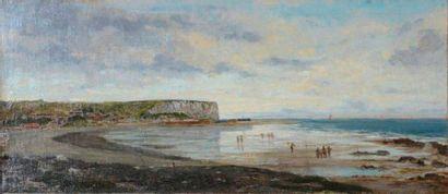 Attribué à Stanislas LEPINE (1835-1892) Plage...
