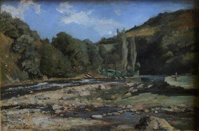 Gustave COLIN (1828-1910) Paysage des Pyrénées...
