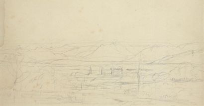François-Auguste RAVIER (1814-1895) Paysage...