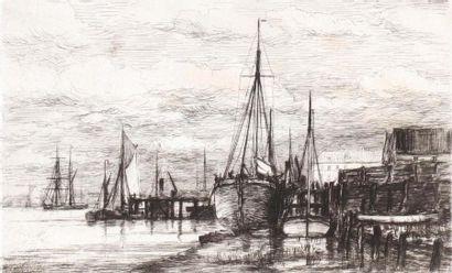 Robert MOLS (1848 1903) Rade Sainte Anne....