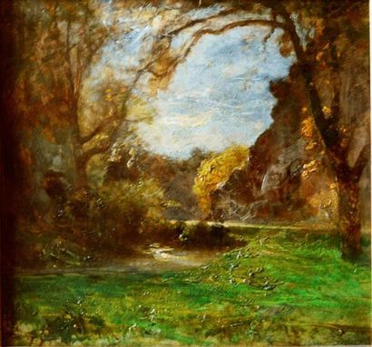 François-Auguste RAVIER (1814-1895) Route...