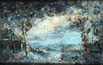Hilaire CARRAND (1821-1899) Paysage du Lyonnais...