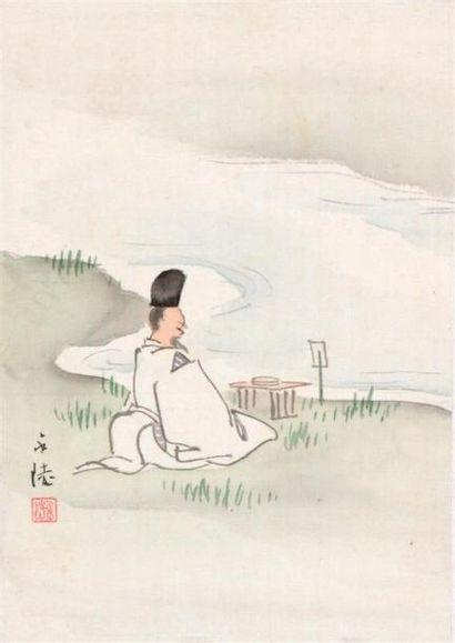 Satake Eiryo (Tokyo après 1872 - 1937). Encre...