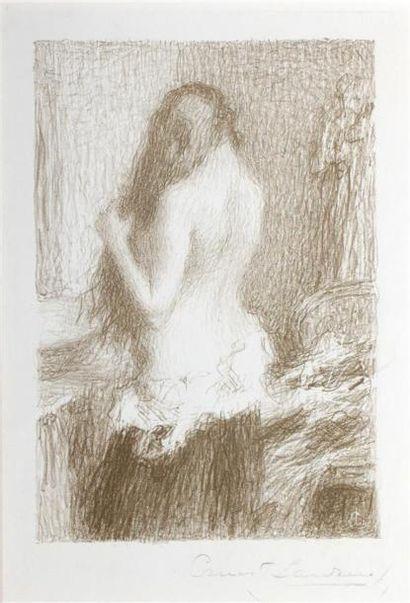 Ernest LAURENT (1859 1929) Femme à sa toilette....