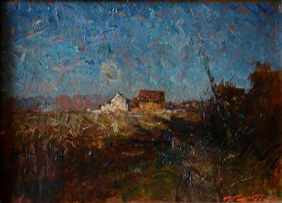 François-Auguste RAVIER (1814-1895) Maisons...