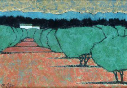 Jean-Marc PEYER (né en 1948) Oliviers dans les Alpilles, 2007 Huile sur toile. Signée...